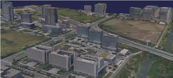 此图像的alt属性为空;文件名为居民地的三维模型.jpg